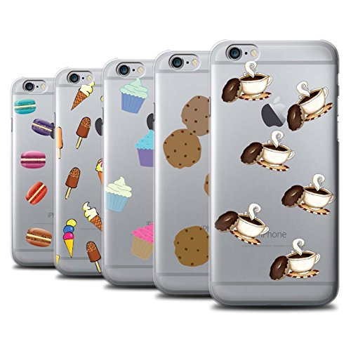 Stuff4 Hülle / Case für Apple iPhone 6+/Plus 5.5 / Pizza Muster / Stück Lebensmittel Kollektion Pack 8pcs