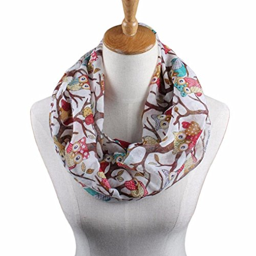 neck warmers unisex voile scarves for women Hirolan christmas decorations sale clearance novelty christmas gifts Winter Warm Outdoor Thermal Warmth Snood Neck Warmer Owl Pattern Wrap Shawl