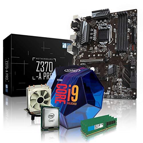 dercomputerladen PC Aufrüstkit Intel i9-9900K 8x3.6 GHz - 64GB DDR4, Intel UHD Grafik 630-1GB, Mainboard Bundle, Tuning Kit, für Spiele und Office geeignet