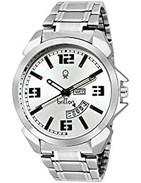 BRITTON Day and Date Display Analogue White Dial Men's Watch -BR-GR181-WHT-CH