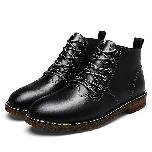 COOLCEPT Unisex Chukka Schnurung Stiefel Couple Schuhe warm black