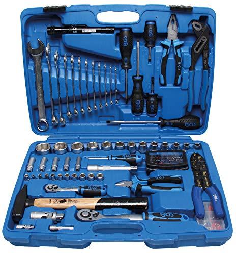 BGS 9029 , Steckschlüssel-Werkzeugkoffer , 117-tlg. , gefüllt , Knarren-, Nuss-, Ratschen-Kasten
