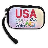 Launge USA Logo 2016 Rio Summer Brazi Logo Coin Purse Wallet Handbag