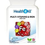 Health4All Multi Vitamins & Iron One a day 360 Tablets | 100% RDA | Free UK Delivery