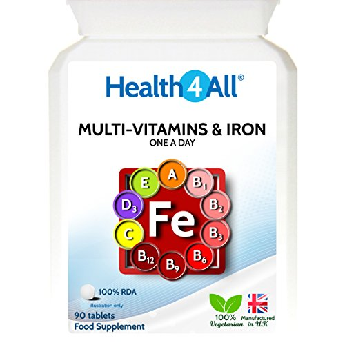 Health4All Multi Vitamins & Iron One a day 360 Tablets   100% RDA   Free UK Delivery