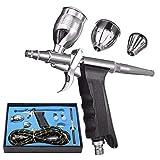 Spritzwerkzeug Mit Gewehr Schlauch und Spritzpistole, Double Action-Spritzpistole Kit Druckluftpistole Set, Gut- und Qualitäts