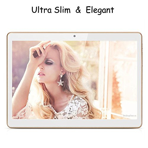 """LeaningTech QT-10 10.1"""" Inches MTK6582 1.5GHz Android 5.1 3G WIFI Phablet Smart Phone IPS HD Screen 16GB 1280x800 Dual Camera Tablet PC Pad Bianco"""