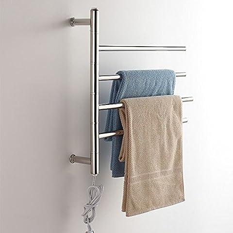 Drehbare Edelstahl Elektrische Wand montiert Handtuchhalter Handtuchwärmer (Boden Montiert Handtuchwärmer)