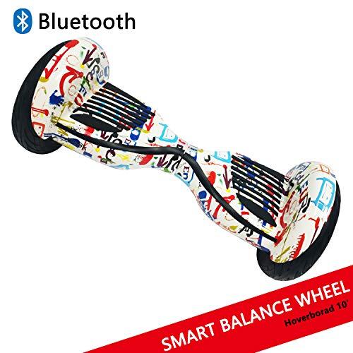 Dragon Gyropode Hoverboard avec Roues DE 10' Scooter électrique Scooter à équilibrage Automatique Smart Balance Board Scooter à équilibre Automatique (Graffiti)