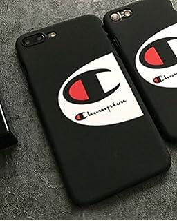 Coque iPhone 6 6S Noire Champion Sport Streawear Logo Noir Fond Blanc 796919059dd