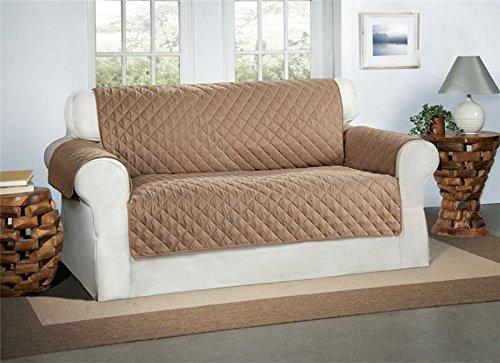 Cubre Beige / Crema para Sofás de 2 Plazas - Protector para Sofás Muebles Acolchado de Lujo