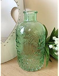 Botella de perfume de la vendimia del estilo de cristal del florero del brote Tocador regalo de la decoración 3 colores