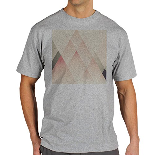 Illuminati Triangle Art Majestic Pink Mountain Background Herren T-Shirt Grau