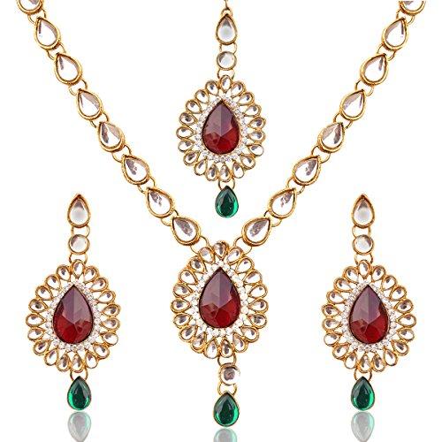Imitation pearl sets kundan kundans earrings polki India ethnic jewellery  available at amazon for Rs.174