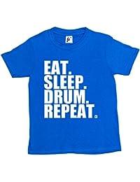Fancy A Snuggle Eat. Sleep. Drum. Repeat. Rock Drummer Heavy Metal Kids Boys / Girls T-Shirt