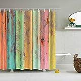 Hzjundasi Cortina de ducha 180x180cm 72x72 pulgadas baño decoración Vintage pintura egipcia cortina de ducha diseño con 12 ganchos