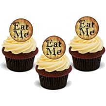 EAT ME - GREAT FUN ON YOUR CUPCAKES! 12 Edible Standup Premium Wafer Cake Toppers