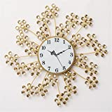NWYJR Wanduhr Ultra ruhigen Uhr Moderne Minimalistische Kreative Dekorative Schneeflocke Blütenblatt Acryl Helle Bohrer Eisen Uhr Wohnzimmer Schlafzimmer B