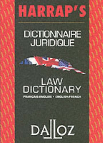 Harrap's Dalloz French Eng Law Dict (Harrap Dalloz) par Harrap