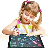 Acrylic Led Drawing Board 60 * 40cm Light up Message Writing Board Illuminated Erasable Doodle Scribble Board Sensory Toy for Autism -Christmas Gift for Kids