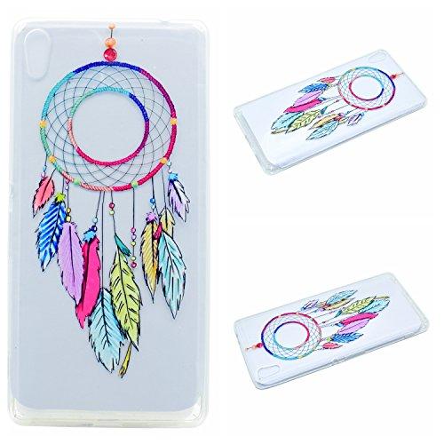 Qiaogle Téléphone Coque - Soft TPU Silicone Housse Coque Etui Case Cover pour Apple iPhone 5 / 5G / 5S / 5SE (4.0 Pouce) - QI04 / Diamant Rayures QI07 / Dreamcatcher
