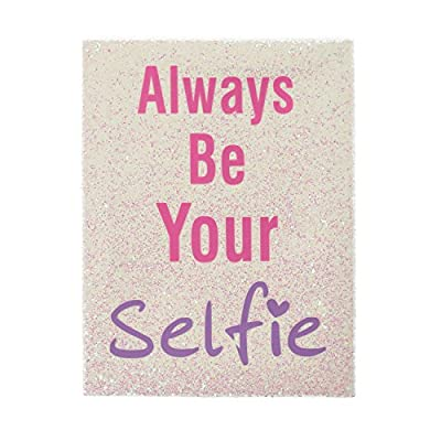 Claire's Girls and Womens Glitter Always Be Your Selfie Wall Canvas in Pink