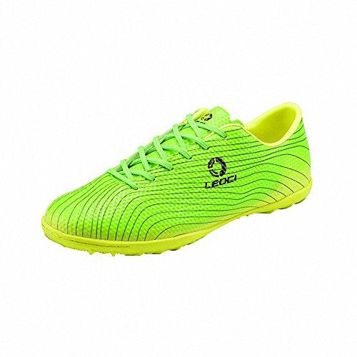 Ben Sports Tf AG FG Entraînement de Football Homme Garçon Chaussures de Football Mixte Adulte Enfant,33-45 TF-vert
