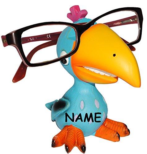 Unbekannt Brillenhalter -  Verschiedene Vögel  Incl. Namen - Stabil aus Kunstharz - u..