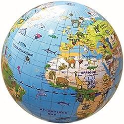 Caly - Esfera del mundo hinchable con animales, 30 cm, castellano (CAGL30AN)