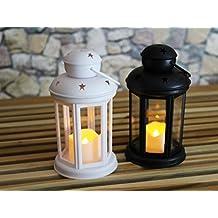 2unidades (= 2unidades) Roman mesa decorativa LED Linternas 24cm x 10cm–Con Vela LED–066–Incluye temporizador–para interior y exterior–Rango–Outdoor–Nuevo–de la kamaca–shop