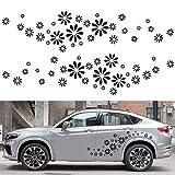 Flyes Décoration de Voiture Vinyle Blanc Floral décoratif Corps Autocollant Voiture Fleur personnalité Autocollants de Voiture Tirer des Fleurs