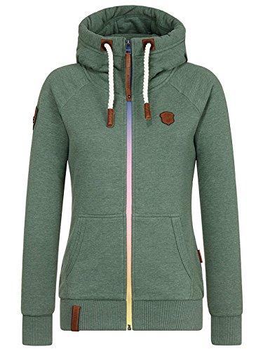 Naketano Female Zipped Jacket Der letzte seiner Art pine green melange