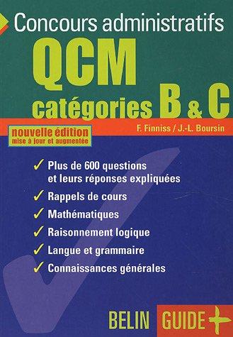 QCM Concours administratifs Catégories B & C