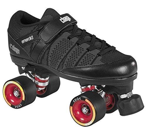 chaya Emerald Hard Derby Roller Skates Rollschuhe schwarz, 45 -