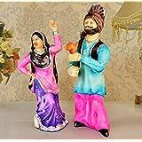 Tied Ribbons Punjabi Couple Bhangra Dancing Resin Showpiece (11 cm x 10.01 cm x 27.99 cm)