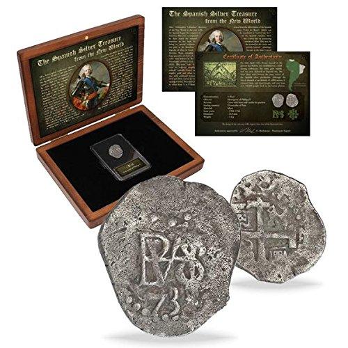 Monedas de ESPAÑA   Moneda de plata de las antiguas colonias españolas acuñada entre 1.700 y 1746