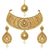 MEENAZ Gold Plated Choker necklace with ...