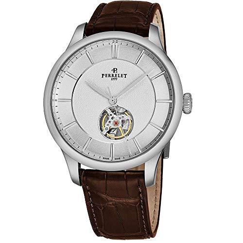 Perrelet Men's First Class Open Heart 42.5mm Brown Automatic Watch A1087-6
