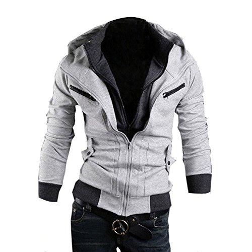 Minetom Herren Jungen Slim Fit Hoodie Lässige Jacke Modische Oberkleidung (Creed Di Kostüm Assassin's 2)