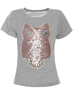 BEZLIT - Camisa deportiva - Blusa - Estrellas - Cuello redondo - Manga corta - para niña