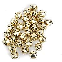 Grifrif - 100 unidades de cascabeles de metal para decoración de Navidad, joyería, manualidades, 10 mm