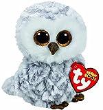 Toy - Carletto Ty 37201 - Owlette - Eule mit Glitzeraugen, Glubschi's, Beanie Boo's, 15 cm, weiß
