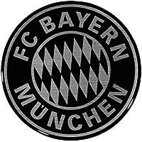 3D Aufkleber Logo schwarz FC Bayern München + gratis Sticker München forever /etiqueta engomada / Sticker / autocollant 3D Sticker, Autoaufkleber FCB