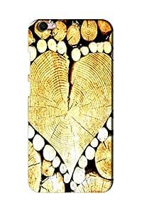AMAN Wood Love Symbol 3D Back Cover for Vivo V5s