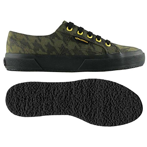 Superga 2750-Cotupieddepoule, Sneaker, Unisex - adulto PDEPOULE MILITARY