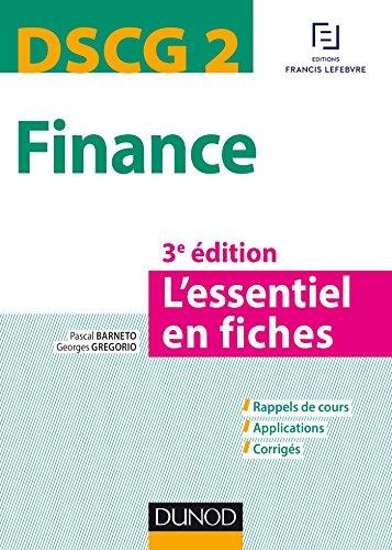 DSCG 2 - Finance - 3e éd. - L'essentiel en fiches