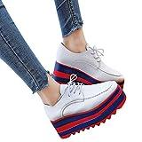 ABsoar Stiefel Damen Keilabsatz Schuhe Mode Frauen Erhöhen Freizeitschuhe High-Sohle Einzelne Schuhe Studenten Lace Up Casual Schuhe