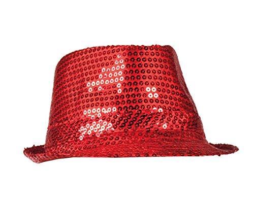 (Boland 01277 - Paillettenhut für Erwachsene, Einheitsgröße, rot)
