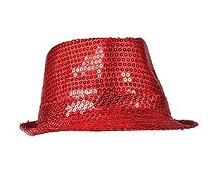 Boland 01277 - Sombrero de Lentejuelas, tamaño estándar, Color: Rojo