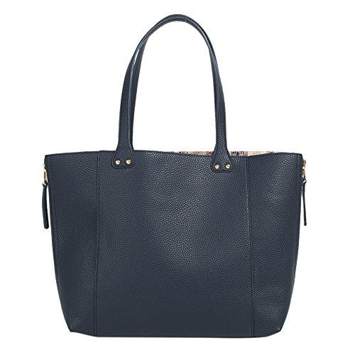 Parfois - Borsa Pu Di Base Shopper Colore Vino - Donne Blu Navy